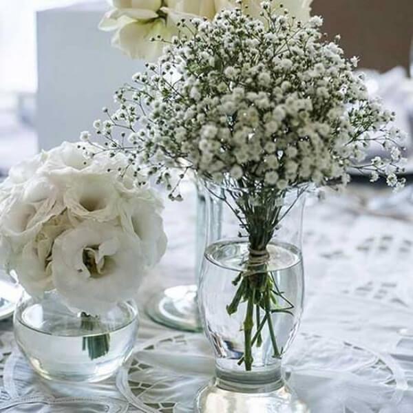 Bodas de prata flores miúdas