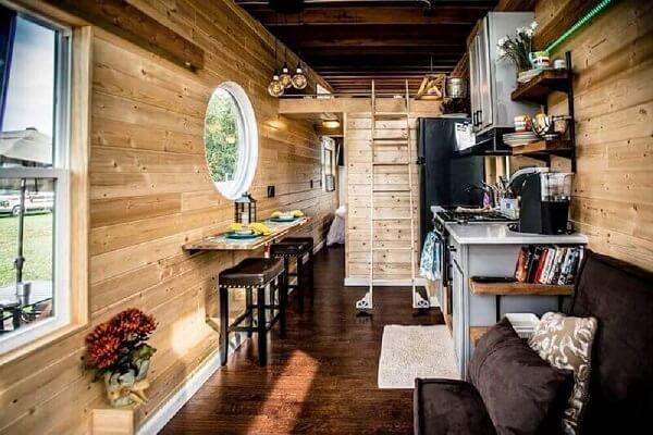 Casa de madeira rústicas são charmosas