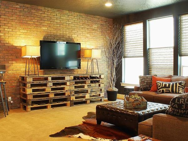 Casa rústica com decoração de paletes
