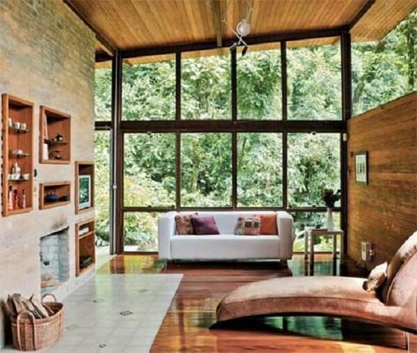Casa rústica e moderna