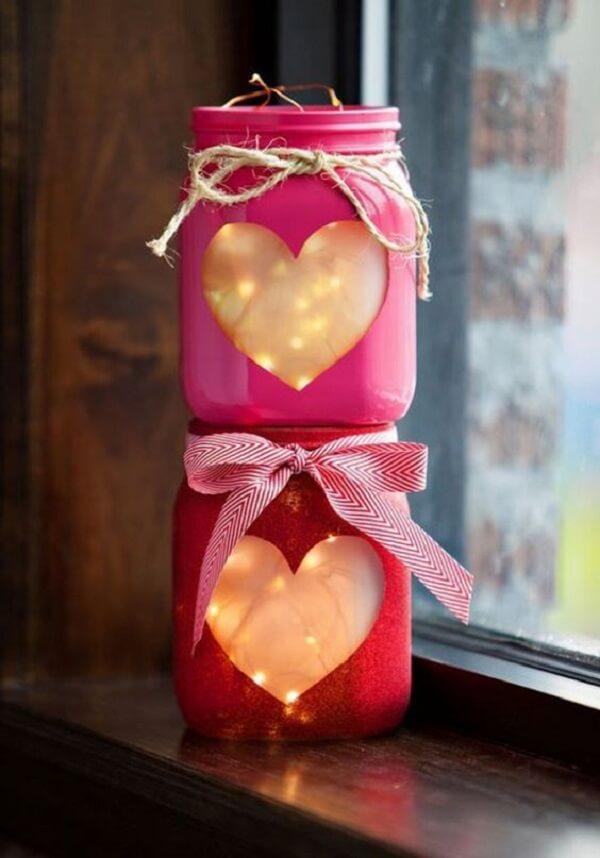 Com muita criatividade é possível itens românticos para o dia dos namorados. Fonte: Pinterest