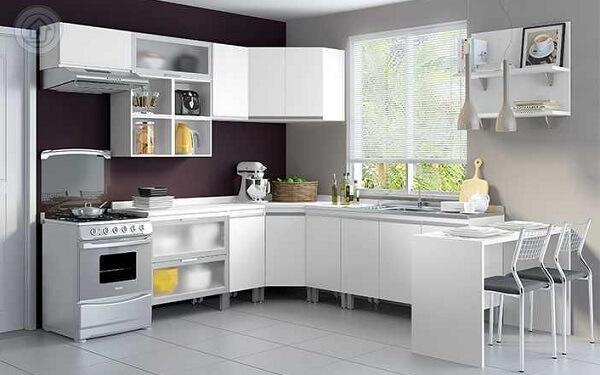 Cortina para cozinha clean utiliza persiana