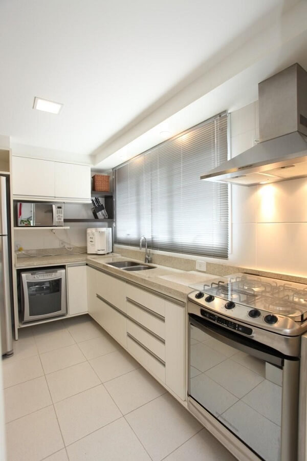 Cortina para cozinha com coifa