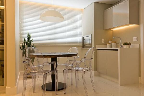 Cortina para cozinha com pouco espaço