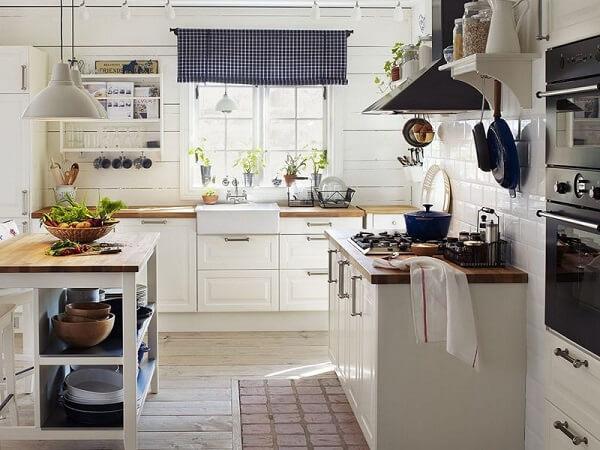 Cortina para cozinha com visual moderno