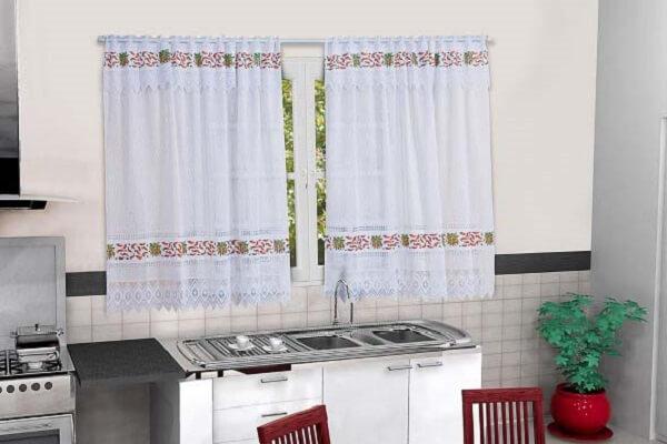 Cortina para cozinha de tecido