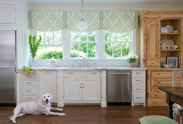Cortina para cozinha elegante e simples