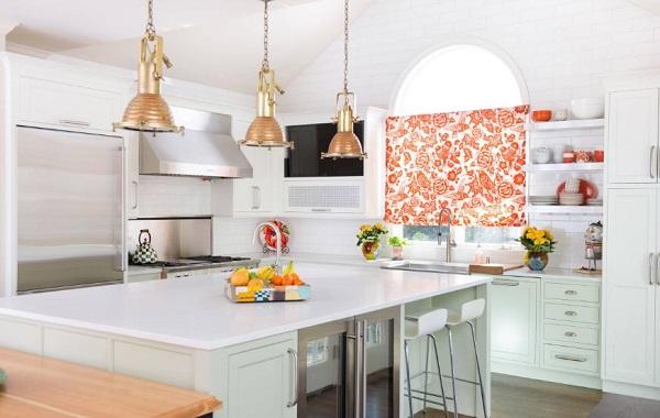 Cortina para cozinha floral