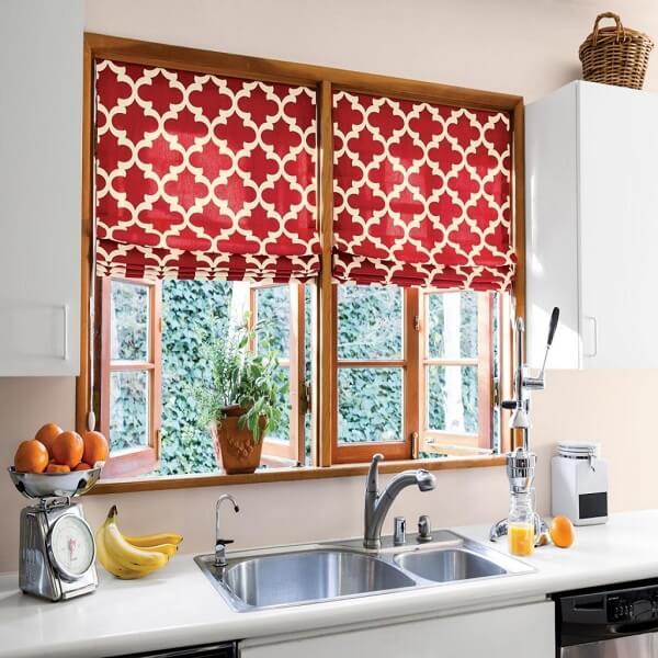 Cortina para cozinha moderna