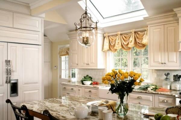 Cortina para cozinha sofisticada