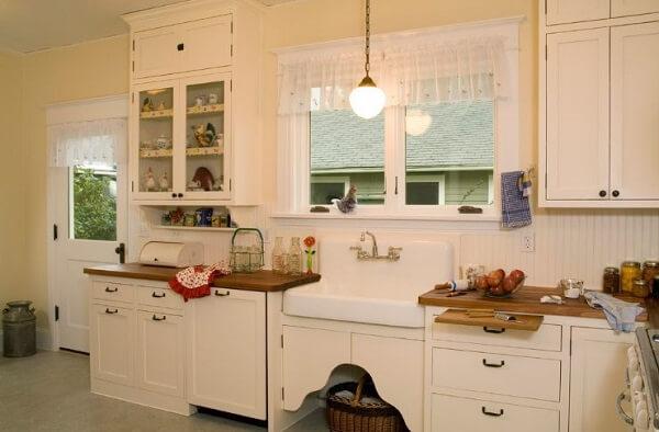 Cortina para cozinha vintage