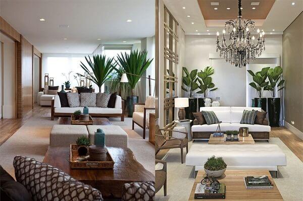 Decore sua sala de estar com plantas artificiais