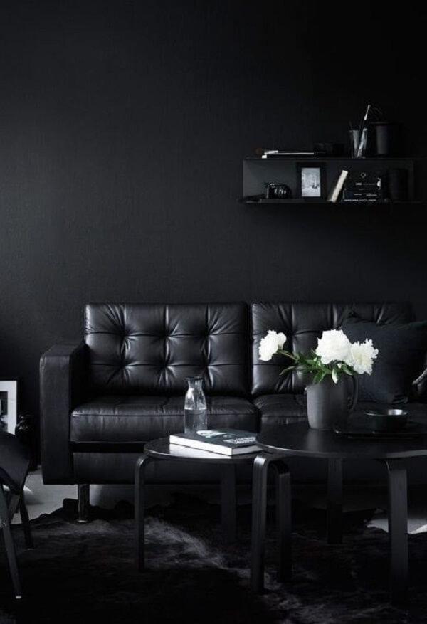 Elegância e sofisticação ao se utilizar preto na decoração