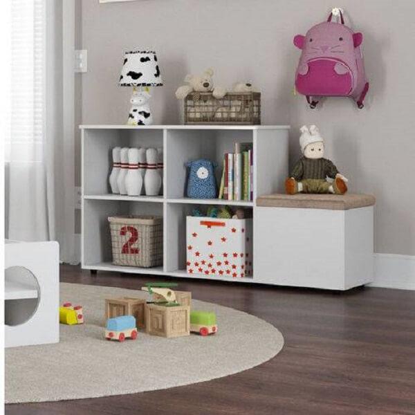 Estante para quarto infantil na cor branca