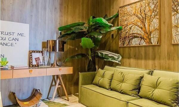 Folhagem artificial para decoração da sala