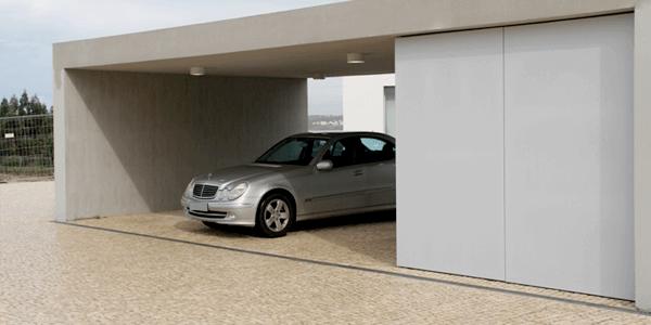 Piso para garagem do tipo pedra