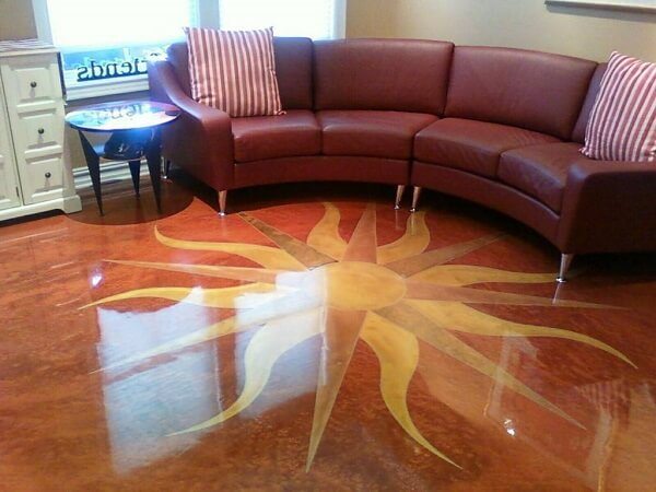 Centralize uma imagem na hora de compor o piso 3D no ambiente