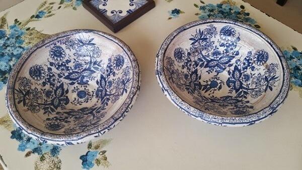 Técnica de decoupage em pratos de cerâmica