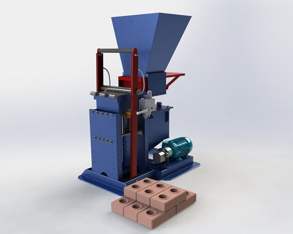 Tijolo ecológico máquina