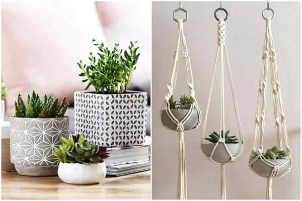 Utilize modelos de vasos criativos na decoração