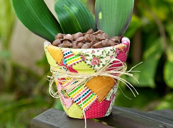Vasos decorados coma técnica de decoupage