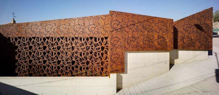 aço corten fachada moderna Foto Baunetz Wissen