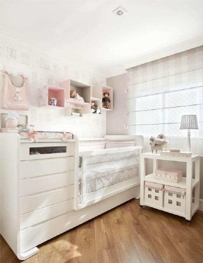 abajur para quarto de bebê todo branco Foto Pinterest