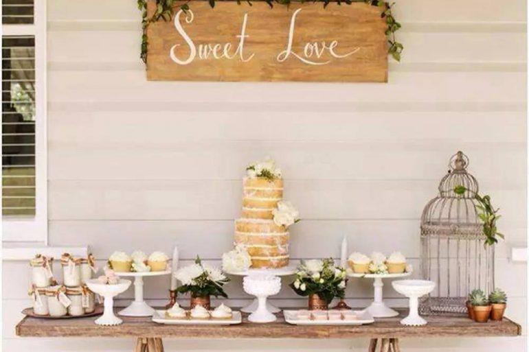 Decoração simples para comemorar bodas de pérolas