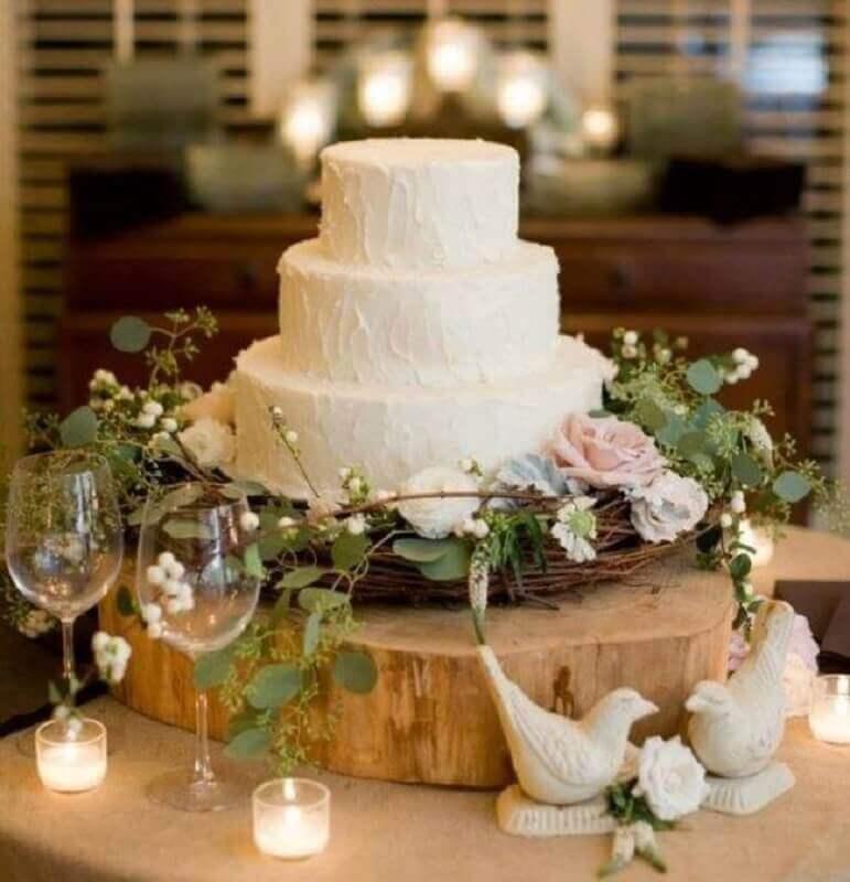 bolo bodas de pérola simples Foto Casa e Festa