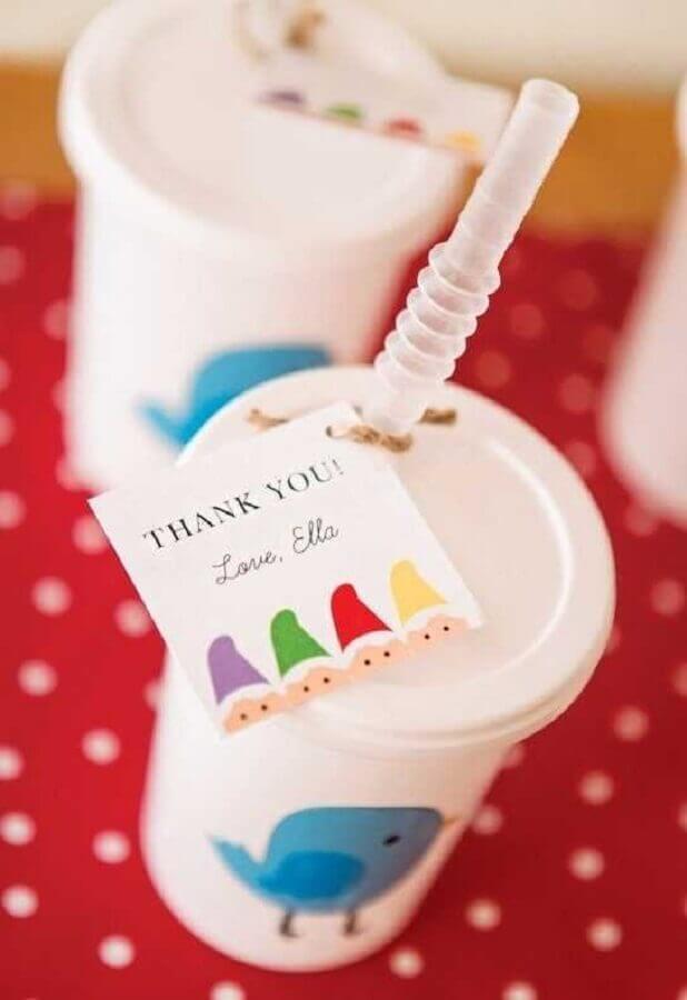 copos personalizados como lembrancinhas para festa da branca de neve Foto Catch My Party