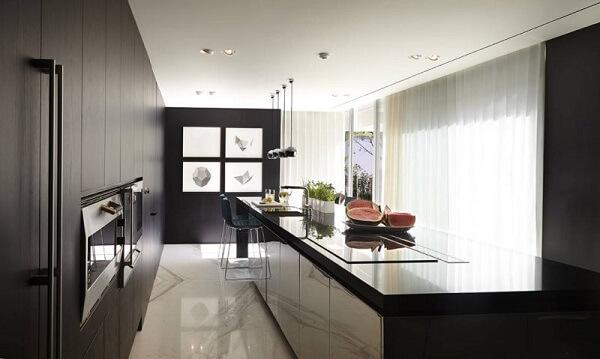 cortina para cozinha em estilo moderno