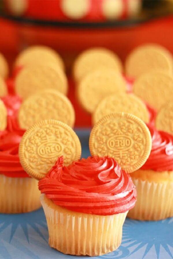 cupcakes personalizados para festa simples do mickey Foto 321achei
