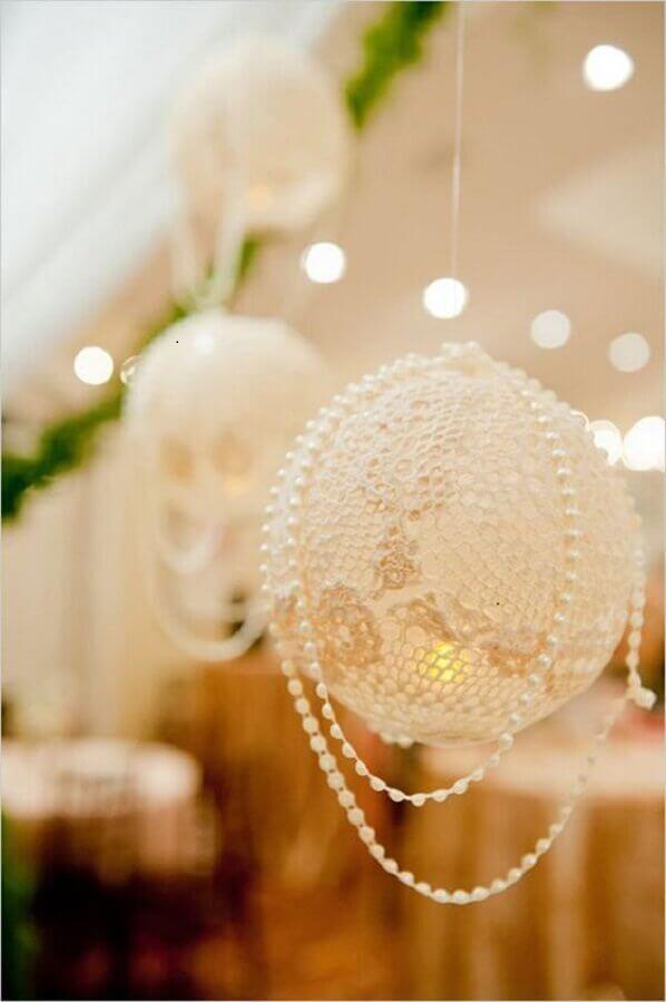 decoração bodas de pérola Foto Wedding Wonderland