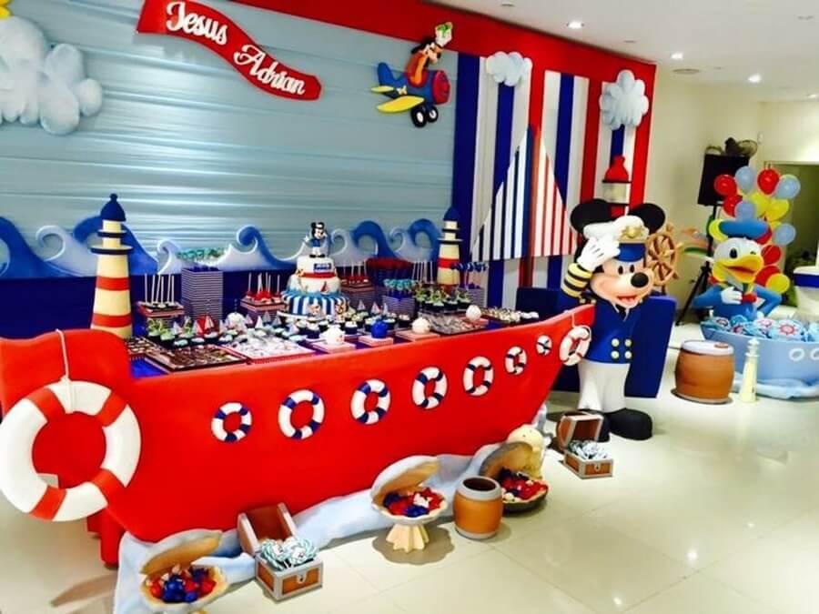 decoração de festa do mickey marinheiro Foto Tutus para Fiestas