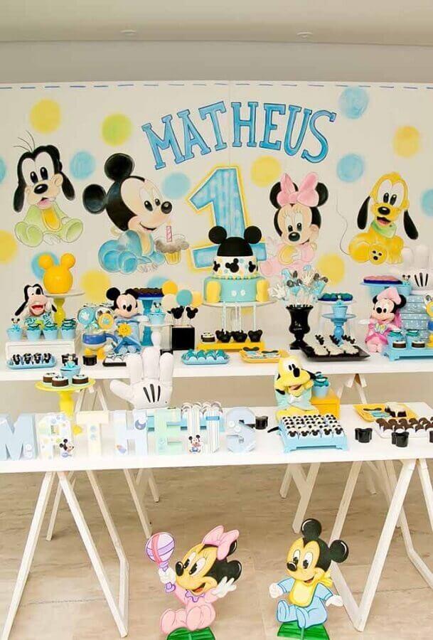 decoração festa do mickey baby Foto Pinosy