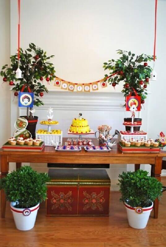 decoração para festa branca de neve simples Foto Festa da Marinoca!