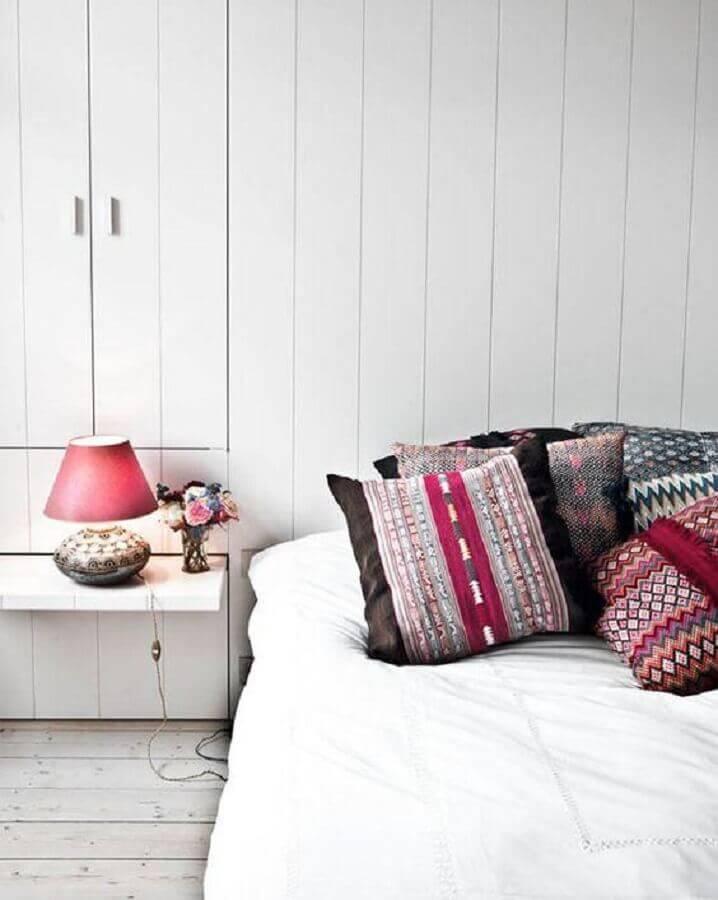 decoração simples com abajur para quarto com base estampada Foto Neu dekoration stile