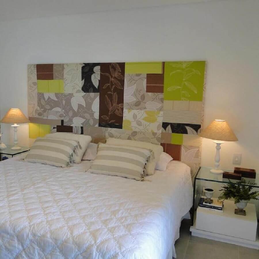 decoração simples com abajur para quarto de casal Foto Ana Cunha Arquitetura