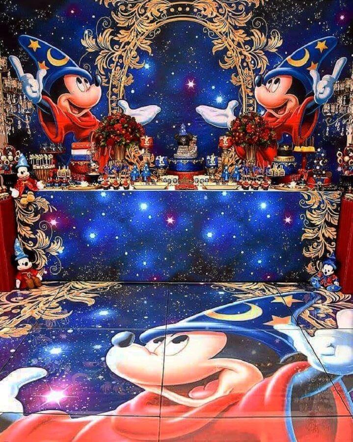 decoração sofisticada para festa circo do mickey Foto Buffet Ooga Booga
