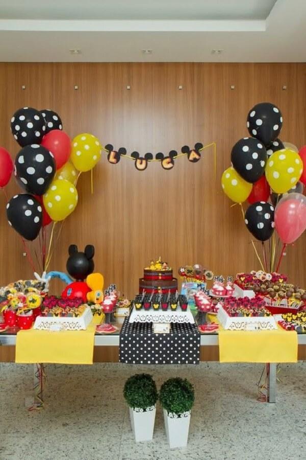 decoração tradicional para festa do mickey simples Foto Pinterest