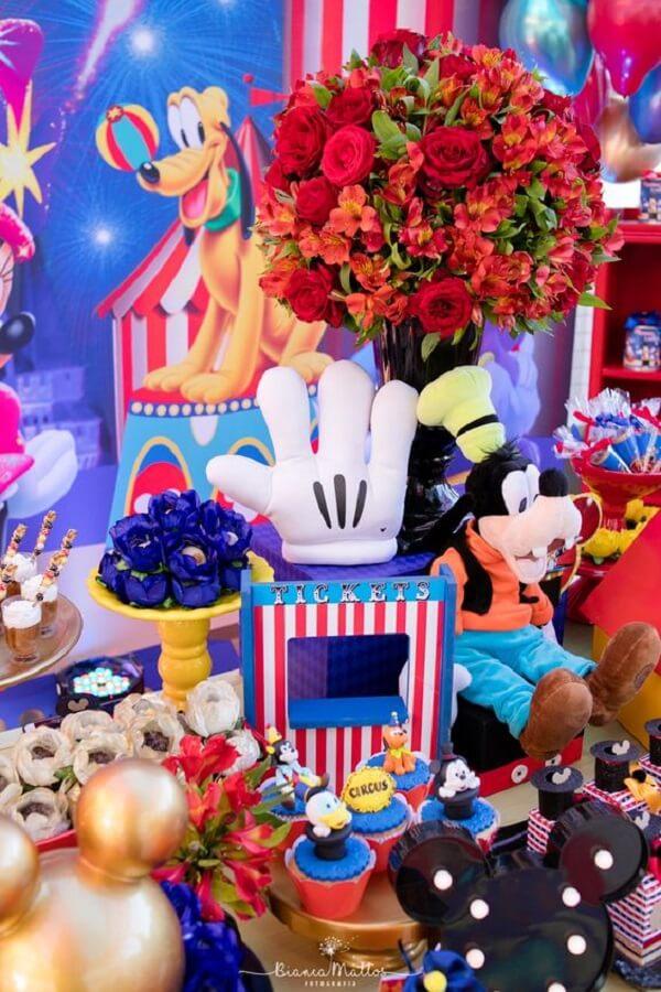 detalhes para decoração festa circo do mickey Foto Bianca Mattos