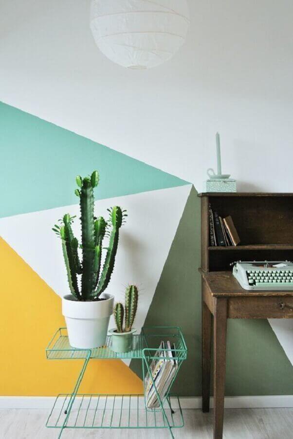 dicas de decoração com parede colorida Foto Pinterest