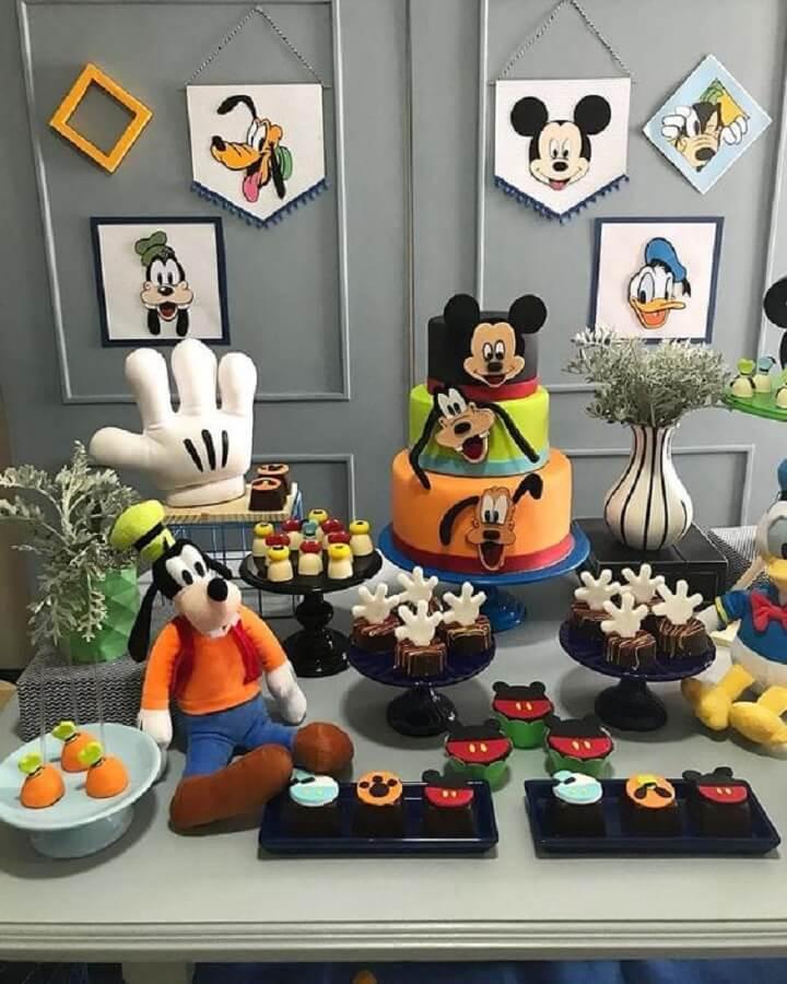 divertida decoração para festa simples do mickey Foto Girlie talk