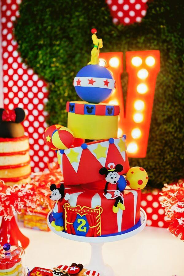 detalhes de decoração para festa circo do Mickey Foto A MInha Festinha