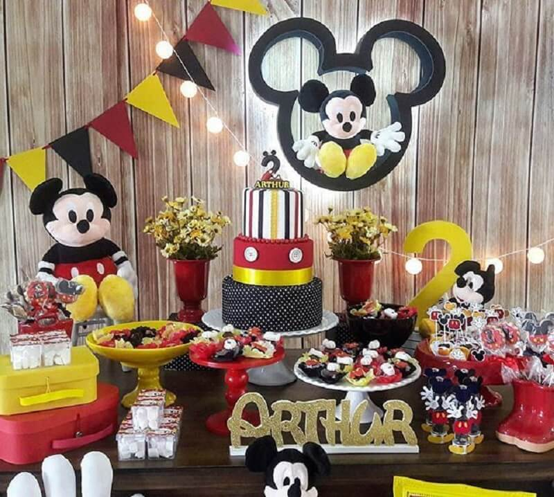 festa simples do mickey Foto Pinterest