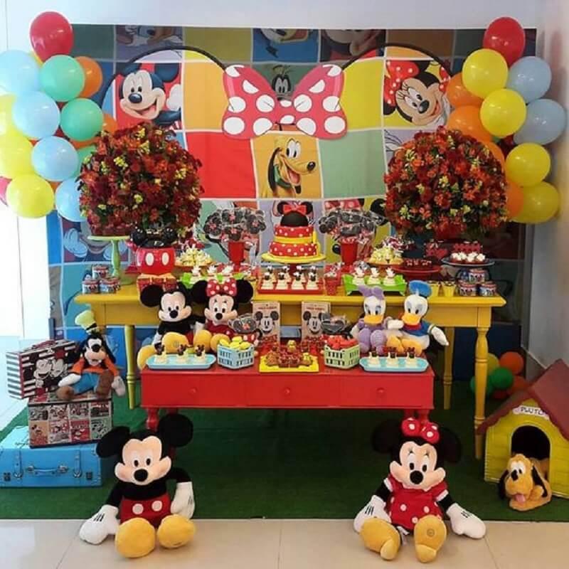 ideia de decoração para festa simples do mickey Foto Pinosy