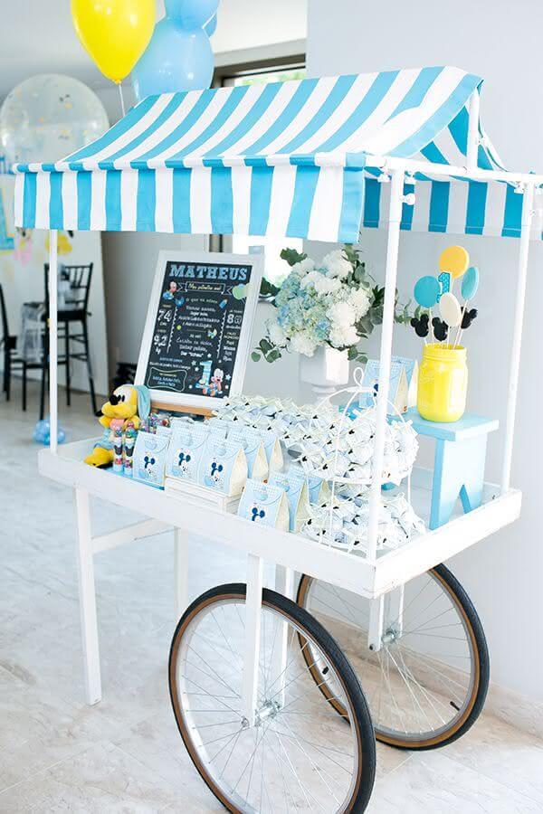 ideias de decoração para festa do mickey baby Foto Pinosy