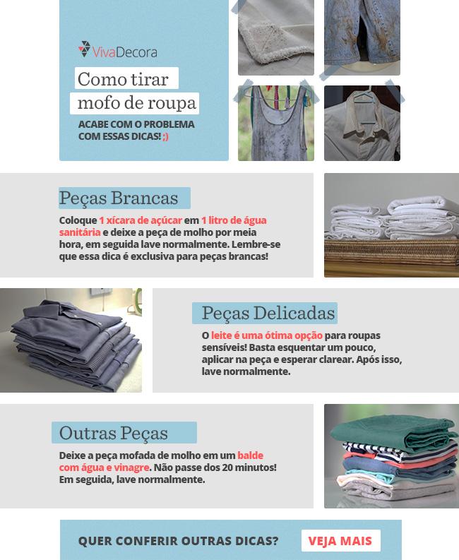 Infográfico - Como tirar mofo de roupa
