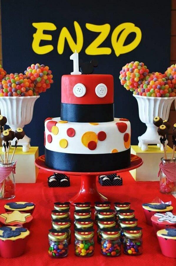 modelo de bolo para festa do mickey mouse Foto Pinterest