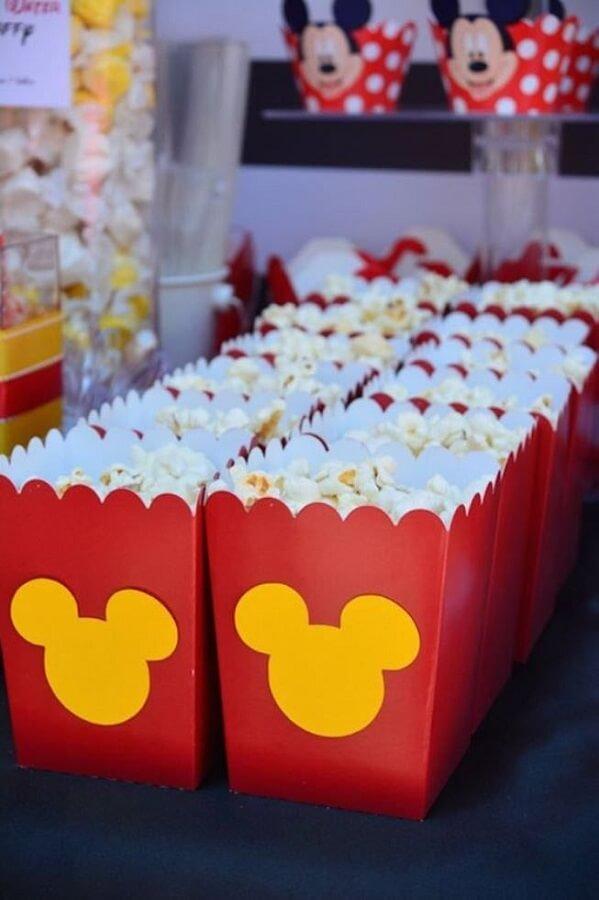 pacotinho de pipoca personalizado para festa infantil do mickey Foto Pinosy